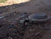 """فى استجابة سريعة لـ""""اليوم السابع"""" إصلاح ماسورة الصرف الصحى بقرية دخميس بالمحلة"""