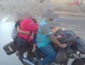 قارئ يشارك بصورة لزوج يعرض أطفاله وزوجته للخطر على الطريق الدائرى