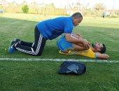 باهر المحمدى يتدرب منفرداً فى الإسماعيلى بعد العودة من ألمانيا