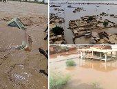 صور.. السودان تغرق فى مياه الفيضانات.. مصرع 46 شخصا على الأقل بعد انهيار مئات المنازل بسبب السيول.. غرق 4 آلاف فدان من الأراضى الزراعية.. خسائر مادية فادحة للمزارعين.. وجهود كبيرة لإنقاذ المواطنين