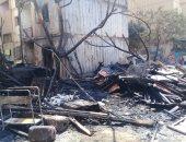 """صور.. """"خراب تام"""" لـ6 شقق سكنية بالقطامية بعد اشتعال النيران فيها"""