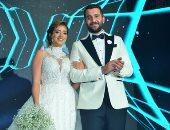 صور .. الخطيب ونجوم الفن والرياضة فى زفاف أحمد سيد السبكي