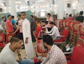 أهالى شبرا النخلة ببلبيس ينظمون حملة للتبرع بالدم ويجمعون 450 كيس