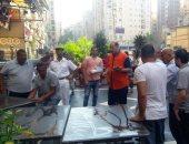 صور.. سكرتير مساعد الإسكندرية : غلق المطعم السورى و تشميعه بالشمع الأحمر