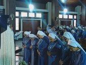 صور.. بطريرك الكاثوليك يحتفل باليوبيل الذهبى لراهبات قلب يسوع