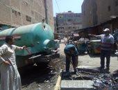 رئيس مدينة المحلة يتفقد سوق الششتاوى ومصنع تدوير القمامة ويوجه برفع الإشغالات
