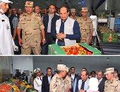 الرئيس السيسى يفتتح 1300 صوبة زراعية بقاعدة محمد نجيب