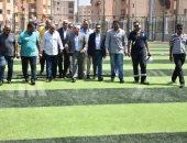 صور.. محافظ بورسعيد يشيد بالتجهيزات والإنشاءات بمركز شباب الحى الإماراتى