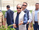 شاهد.. الرئيس السيسى يزيح الستار خلال افتتاح مشروعات الصوب الزراعية