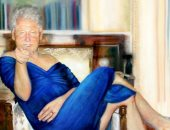 """""""كلينتون يرتدى فستان مونيكا"""".. لوحة بمنزل الملياردير المتهم باعتداءات جنسية"""