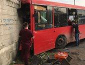 فيديو.. إصابة 32 فى حادث اصطدام حافلة بمدينة بيرم الروسية