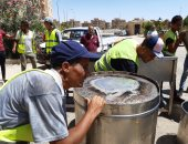 صور.. جهاز مدينة 6 أكتوبر يشن حملات لإزالة التعديات والإشغالات بالمدينة