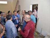 صور ..محافظ البحيرة يتفقد أعمال تجديد مبنى الوحدة المحلية بالرحمانية