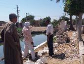 صور .. حملة لمعالجة المياه الجوفية بعزبة الوابور بالفيوم