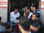 تشييع جثامين 3 شهداء فلسطينيين استهدفهم الاحتلال الاسرائيلى بشمال غزة