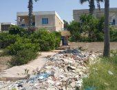 قارئ يشكو انتشار القمامة أمام الشاليهات بمنطقة الياسمين بمراقيا