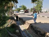 شاهد أعمال اليوم السادس للمرحلة الثالثة من تجديد كورنيش النيل بالأقصر..صور