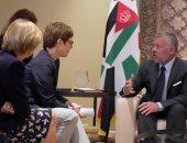 ملك الأردن يلتقي وزيرة الدفاع الألمانية