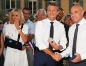 سيدة فرنسا الأولى تشارك بذكرى تحرير بلدية بورميس بحامل للكتف