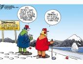 ترامب يشترى جرينلاند للعب الجولف..كاريكاتير USA Today