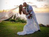 صور الصخرة داوين جونسون يتزوج فى هاواى