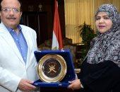 رئيس جامعة طنطا يستقبل الملحق الثقافى لسفارة سلطنة عمان فى القاهرة