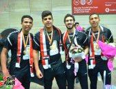 """""""آمال"""" تهنئ فريق كرة اليد: حصلوا على بطولة العالم بكفاءة عالية.. صور"""