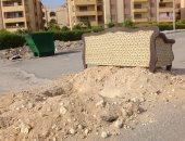 شكوى من انتشار القمامة ومخلفات البناء فى شارع الزهور بنزهة العبور