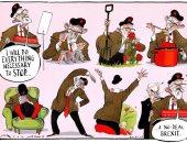 """كاريكاتير التايمز يسخر من موقف زعيم حزب العمال من """"بريكست دون صفقة"""""""