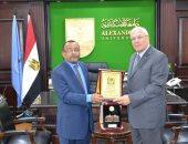 رئيس جامعة الإسكندرية يستقبل سفير تنزانيا لبحث التعاون المشترك