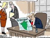 كاريكاتير ذا ويك يسخر من طلب ترامب جزيرة جرينلاند: ليست ملعب جولف