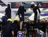 مظاهرة احتجاج فى محطة مترو بهونج كونج