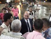 محافظ المنيا يتابع أعمال حملة إزالة الإشغالات والمخالفات بكوبرى الحبشى