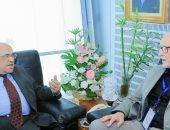 مصطفى الفقى يستقبل كبير مستشارى المكتبة الوطنية فى نيوزيلندا