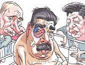 صحيفة أرجنتينية تنشر كاريكاتير يبرز دعم بوتين وشى جين بينج لمادورو ضد ترامب