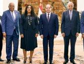 شاهد.. استقبال الرئيس السيسى لرئيسة برلمان دولة توجو