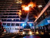 """حريق هائل يلتهم مستشفى """"هنرى موندور"""" فى مدينة كريتاى الفرنسية"""
