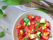 صحتك فى وصفة.. سلطة البطيخ والخيار سناكس صحى لإنقاص الوزن