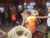 صور .. سكرتير مساعد الإسكندرية يقود حملة مسائية مكبرة لازالة الإشغالات