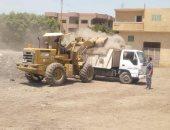 وحدة التدخل البيئى السريع بالشرقية ترفع 420 طن قمامة من مقالب عشوائية