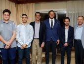 سفير مصر فى الكونغو يستقبل بعثة بيراميدز