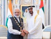 """""""بن زايد """" ورئيس وزراء الهند يبحثان علاقات البلدين والمستجدات الإقليمية والدولية"""