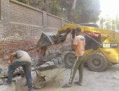 صور.. حملات نظافة ورفع الإشغلات بشوارع العمرانية وتطوير شارع المريوطية