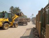 رفع القمامة بقرى البدرشين ومنشأة القناطر والاطمئنان على سوق برقاش بالجيزة