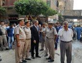 مدير أمن القليوبية ورئيس حى غرب شبرا الخيمة يقودان حملة لإزالة الإشغالات