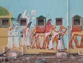 صور.. جدارية تاريخية ومشروع بحثى خلال ورشة عمل التنمية المستدامة بالقصير