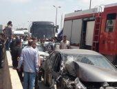 إصابة شخصين فى حادث تصادم سيارتين أعلى طريق الفيوم الصحراوى