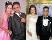 صور..  حكاية زواج أصغر عروسين قى الدقهلية .. تعرف عليها