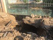 """حفرة كبيرة فى مدخل مدينة كوم حمادة.. شكوى """"على"""" من محافظة البحيرة"""