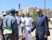 محافظ البحر الأحمر يتفقد أعمال تطوير طريق الحجاز بالغردقة